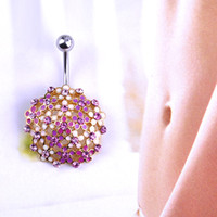belly button piercing needles - Crystal Stones Epoxy Enamel Belly Button Rings Sexy Body Jewelry Piercing Needle Ring O VAZ E joy Life Brand Luxury Jewelry