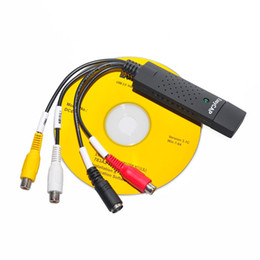 Wholesale USB Real STK1160 GM7113 ALC101 Easycap tv dvd vhs video Capture adapter card Audio AV video capture card for CCTV system