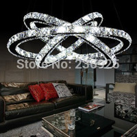 crystal chandelier lighting - Hot sale Diamond Ring LED Crystal Chandelier Light Modern Pendant Lamp Circles Guarantee Different Size Position XX26