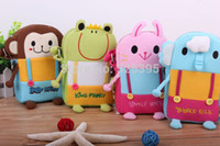 fabric for kids - Hot selling Cute Zoo Cartoon School Bags Mini Cotton Fabric Messenger Bag Gift for Children Kids