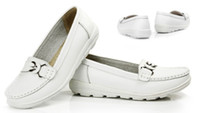 wd-40 - Promotion Women Casual Genuine Leather Flat Ballet Shoes Mother Nurse single Shoes Size WD