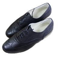women rubber flat shoes - Plus size Autumn Genuine Leather Oxfords Women s Brogues Vintage Shoes Flat British Rubber Sole