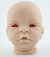 "Cheap Wholesale-Reborn kits soft toys silicone vinyl head 3\4 arms legs for 22"" reborn babies lifelike handmade reborn baby doll kits"