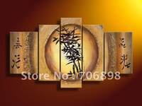 Cheap bamboo painting Best oil canvas