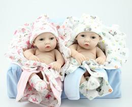 "Wholesale-New baby silicone reborn dolls  Fashion reborn babies dolls lifelike 12"" Silicone Vinyl boy and girl doll 100% handmade"