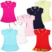 baby tennis clothes - new baby dresses brand toddler girls pleated tennis dresses summer short sleeve infant clothing net cotton for M