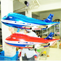 airplane cartoons - Hot selling FLYING Plane shape balloon airplane Foil ballons for baby shower baloes helium baloon