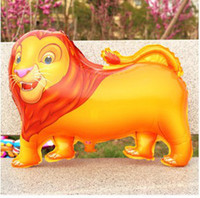 animal modeling balloons - The lion aluminum film animal modeling creative Foil Balloons toy for children birthday balloon stage cloth