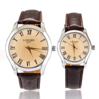 Wholesale Christmas Luxury Brand Classic watches lovers men women Glass Leather Strap Quartz Wrist Watch Gift