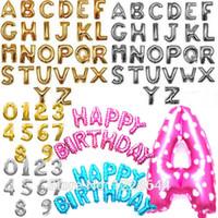 alphabet letters shapes - Party decoration Number Alphabet Letter foil baloons inch custom shaped aluminum