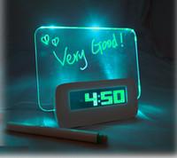 electronic clock timer - Multifunction LED Digital Fluorescent Message Board Electronic Alarm Clock Temperature Calendar Timer Snooze Night Light