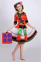 hmong - New Plus Size Women Girl Red Ancient Traditional Chinese Dance Costumes Miao Hat Dress Miao Clothing Hmong Clothestoycity