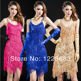 Wholesale New Fashion Women Sequin Fringe Dance Dress Evening Dress Fringe Dance Costumestoycity