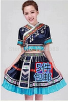 Wholesale Hmong Miao Women Clothing Ancient Traditional Dance Chinese Dress Plus Size Miao Hmong Clothestoycity dance costume