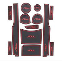 accessories kia - KIA SOUL Silicone Glow Gate slot pad Teacup pad Non slip pad Fit car accessories