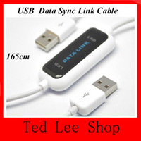 Wholesale new High Speed USB PC To PC Copy Online Data Sync Link Net File Transfer Cable Easy Copy