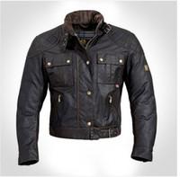 Compra Chaquetas de los hombres de cera-Al por mayor-Steve McQueen El hombre de la chaqueta de la motocicleta de calidad superior cera de la prendas de vestir de los hombres de la chaqueta de la chaqueta roadmaster