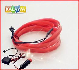 Gros-Band bord 3M Neon lumière flexible EL fil + chargeur de voiture allume-cigare (RED) --- 9 couleurs Option GGG LivraisonGRATUITE à partir de couleurs des fils au néon fabricateur
