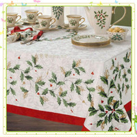 lenox - Lenox holiday christmas american style fabric table cloth rustic tablecloth