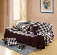 sofa cover - Korean cotton towel cover the whole sofa cover set cm Cushion cloth slipcover mat pastoral