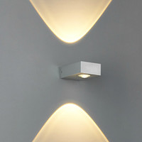 Wholesale up and down side lighting w led wall lamp modern compact size two ways lighting waterproof outdoor led wall lights sconce