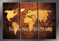 Cheap oil painting Best map canvas