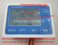 Wholesale G1 quot Flow Water Sensor Meter Digital LCD Display Programmable Quantity Quantitative Control L min