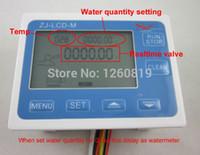 Wholesale G1 quot Water Flow Quantitative Control LCD Display Flow Sensor Meter Solenoid Valve Gauge New
