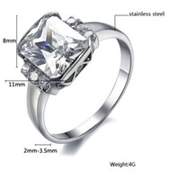 Wholesale 2015 Sale for Maikun Jewelry Women s Stainless Steel Ring Luxury Design Big Crystal Inlaid Top Quality Size