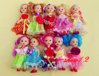 Cheap Wholesale-10 Pcs Kelly and Friends Family Doll Pretty Gown Cloth Dress Pink Shoes