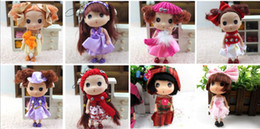 Wholesale-Birthday gift 12cm confused Lattice butterfly pattern doll high quality toy cloth mini ddung ddgirl doll for girl