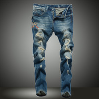 overalls for men - New Slim Straight jeans male denim overalls for men high waist a mani jeans real stuff for free