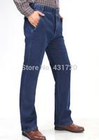 big size men pants - Winter Big Men Plus Size Jeans Male Fashion Denim Fleece Thermal Jean Trousers Man Pants