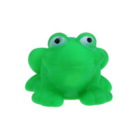 Wholesale One Dozen Rubber Cute Frog With Sound Baby Shower Party Favors Toy Jo