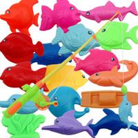 Wholesale brinquedos meninas sea water Set Children Child Magnetic Fishing Game Bathing Toy Set Baby Laoyu Toy Gift Rod Fish