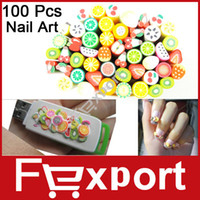 canes - Pack Polymer Clay Nail Art Stickers Cane with Fruit and Flower Design