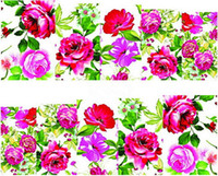 rose water - Water Transfer Nail Art Stickers Decal Beauty Colorful Rose Flowers Oil Painting Design DIY French Manicure Foils Stamping Tools
