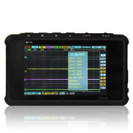 Wholesale DS203 DSO203 portable oscilloscope DIY kit same as DSO quad Free for analog probes digital probe aluminium alloy black
