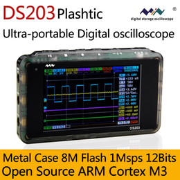 Wholesale Plastic DS203 V2 M Flash Mini Nano Digital oscilloscope DSO203 ARM Cortex Quad Channels MHz Bandwidth