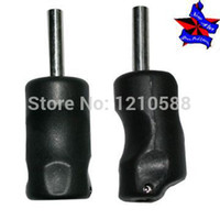 Cheap Wholesale-Pro 5pcs lot Top Tattoo Grips plastic cement black tattoo grip tube free shipping