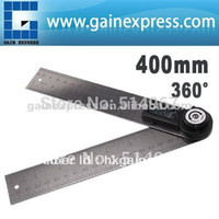 Wholesale in1 Digital Angle Finder Meter Protractor Stainless Steel with Moving Blade Ruler degree mm degree Range