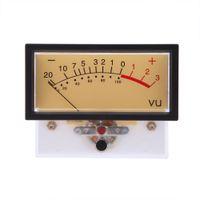 Wholesale High Quality Rectangular Clear Plastic Shell Audio Amp Panel VU Volume Unit Level Meter Indicator Zinc Silver