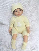 Cheap Wholesale-22 inches Reborn baby boy doll handmade soft silicone vinyl newborn baby alive doll lifelike birthday gift