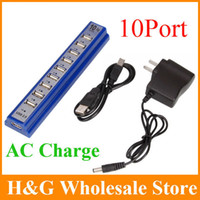 ac splitter cable - Port USB High Speed Multi Hub Extension Cable Expansion Splitter PC AC Power Adapter