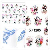 Wholesale New Fashion Nail Wrap Water Transfer Nail Art Sticker Geisha Girls Chinese Landscape Painting China Styles mixed Design Tips