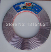 Cheap Wholesale-Free Shipping 1 role Soft PVC Chrome 15M X15MM Car Decoration Protection Strip Trim Styling