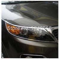 abs kia sorento - Kia Sorento ABS Chrome Front Head Lamp Light Headlight Cover Trims