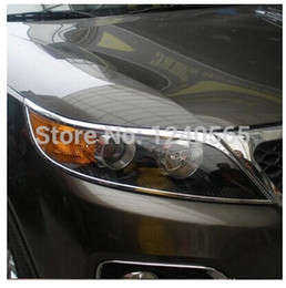 Wholesale Kia Sorento ABS Chrome Front Head Lamp Light Headlight Cover Trims