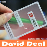 Wholesale via DHL With White ink Transparent Translucent Custom Business Card Visit Name Post Card Plastic PVC cards pinting