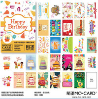 Cheap Wholesale-New Happy birthday to you box postcard Album Gift 30Pcs+1 pcs Small notebook set Greeting card Free Shipping